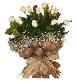 Mardin çiçekçi telefonları  9 adet beyaz gül buketi