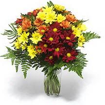 Mardin çiçek siparişi sitesi  Karisik çiçeklerden mevsim vazosu