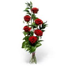 Mardin çiçek siparişi sitesi  cam yada mika vazo içerisinde 6 adet kirmizi gül
