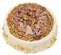 Karamelli 4 ile 6 kisilik yas pasta  Mardin çiçek yolla