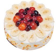 Meyvali 4 ile 6 kisilik yas pasta leziz  Mardin ucuz çiçek gönder