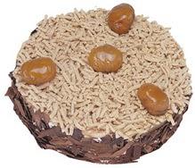Kestahaneli yas pasta 4 ile 6 kisilik pasta  Mardin çiçek siparişi sitesi