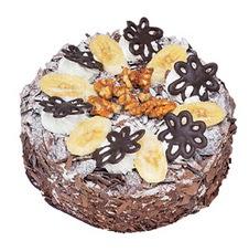 Muzlu çikolatali yas pasta 4 ile 6 kisilik   Mardin uluslararası çiçek gönderme