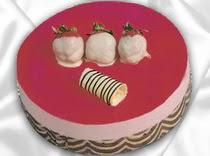 pasta siparisi 4 ile 6 kisilik yas pasta çilekli yaspasta  Mardin çiçek servisi , çiçekçi adresleri
