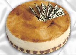 taze pasta 4 ile 6 kisilik yas pasta karamelli yaspasta  Mardin çiçekçiler