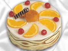 lezzetli pasta satisi 4 ile 6 kisilik yas pasta portakalli pasta  Mardin çiçekçi mağazası