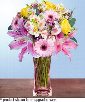 Anneme hediye karisik cam mevsim demeti  Mardin internetten çiçek siparişi