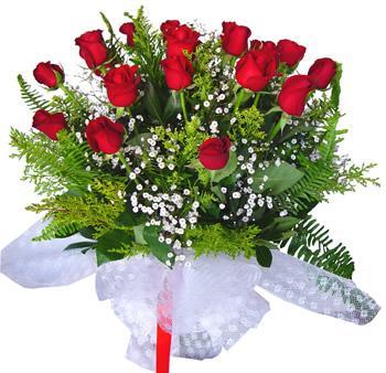 11 adet gösterisli kirmizi gül buketi  Mardin internetten çiçek satışı