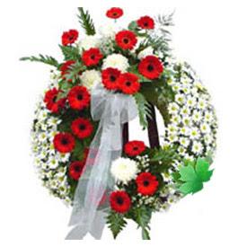Cenaze çelengi cenaze çiçek modeli  Mardin uluslararası çiçek gönderme