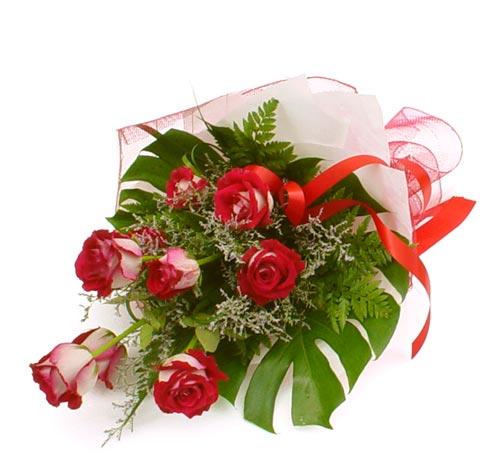 çiçek gönder 7 adet kirmizi gül buketi  Mardin kaliteli taze ve ucuz çiçekler