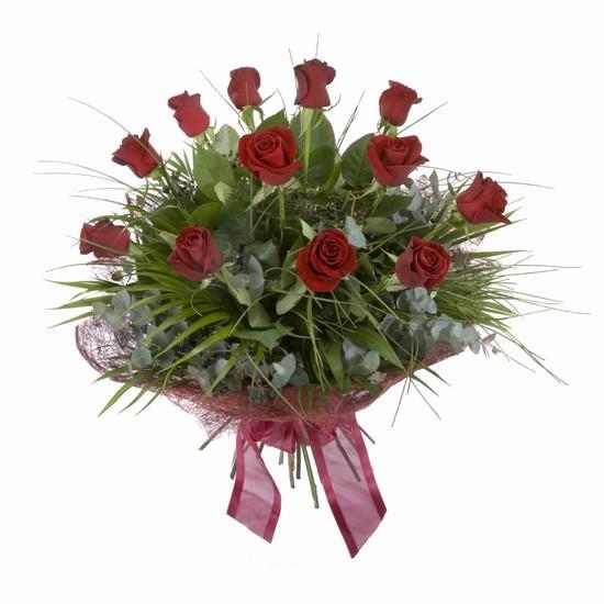 Etkileyici buket 11 adet kirmizi gül buketi  Mardin internetten çiçek satışı