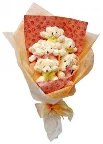 12 adet ayiciktan buket  Mardin çiçek siparişi sitesi