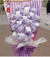 11 adet pelus ayicik buketi  Mardin çiçek gönderme sitemiz güvenlidir
