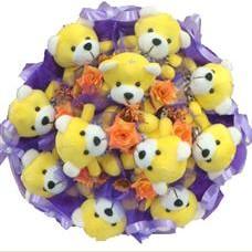 11 adet pelus ayicik buketi  Mardin çiçek mağazası , çiçekçi adresleri