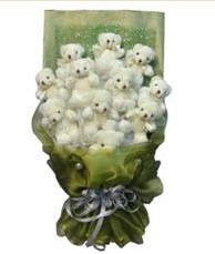 11 adet pelus ayicik buketi  Mardin online çiçek gönderme sipariş