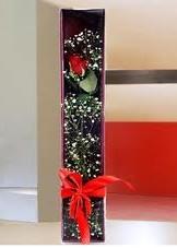 kutu içinde tek kirmizi gül  Mardin çiçek online çiçek siparişi