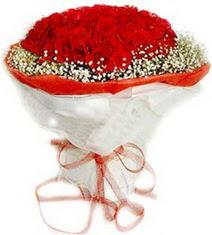 Mardin çiçekçiler  41 adet kirmizi gül buketi