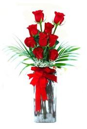 Mardin çiçekçi telefonları  9 adet mika yada cam vazoda gül tanzimi