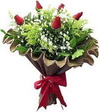 Mardin online çiçek gönderme sipariş  5 adet kirmizi gül buketi demeti
