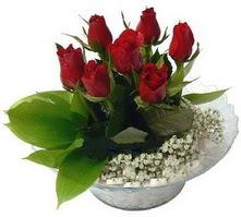 Mardin internetten çiçek satışı  cam yada mika içerisinde 5 adet kirmizi gül