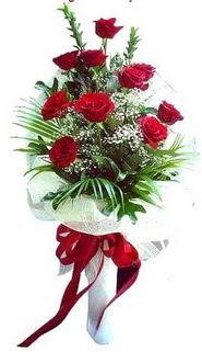 Mardin ucuz çiçek gönder  10 adet kirmizi gül buketi demeti