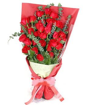 Mardin çiçek gönderme  37 adet kırmızı güllerden buket