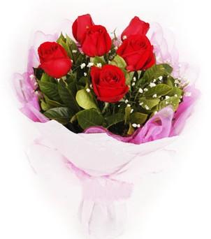 Mardin hediye sevgilime hediye çiçek  kırmızı 6 adet gülden buket