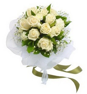 Mardin online çiçekçi , çiçek siparişi  11 adet benbeyaz güllerden buket