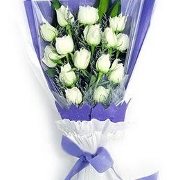 Mardin çiçekçi mağazası  11 adet beyaz gül buket modeli
