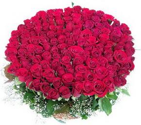 Mardin online çiçekçi , çiçek siparişi  100 adet kırmızı gülden görsel buket
