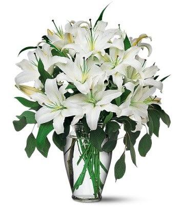 Mardin internetten çiçek satışı  4 dal kazablanka ile görsel vazo tanzimi