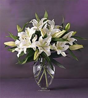 Mardin İnternetten çiçek siparişi  4 dal cazablanca vazo çiçeği