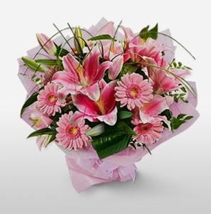 1 dal kazablanka ve kır çiçek görsel buketi  Mardin internetten çiçek satışı