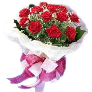 Mardin çiçek satışı  11 adet kırmızı güllerden buket modeli