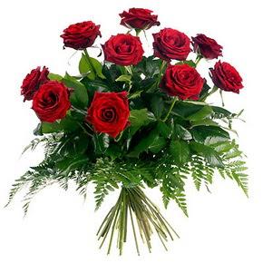 Mardin çiçek gönderme  10 adet kırmızı gülden buket