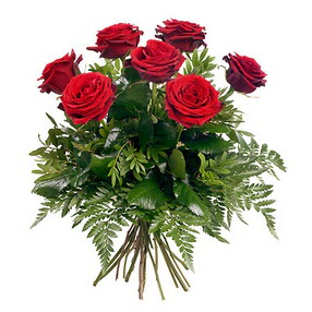 Mardin online çiçek gönderme sipariş  7 adet kırmızı gülden buket
