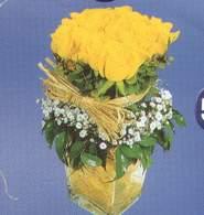 Mardin anneler günü çiçek yolla  Cam vazoda 9 Sari gül