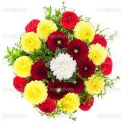 Mardin çiçekçi mağazası  13 adet mevsim çiçeğinden görsel buket