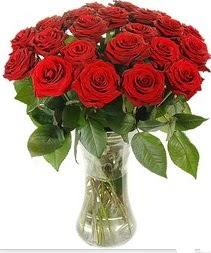 Mardin çiçek mağazası , çiçekçi adresleri  Vazoda 15 adet kırmızı gül tanzimi