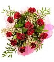 12 adet kırmızı gül buketi  Mardin 14 şubat sevgililer günü çiçek
