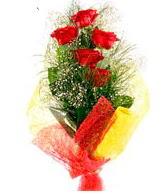 5 li kırmızı gül buketi  Mardin internetten çiçek satışı
