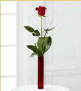 Vazo içerisinde 1 adet kırmızı gül  Mardin internetten çiçek siparişi