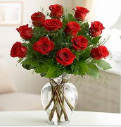Vazo içerisinde 12 kırmızı gül  Mardin çiçek satışı