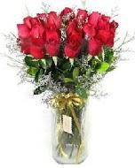 27 adet vazo içerisinde kırmızı gül  Mardin İnternetten çiçek siparişi