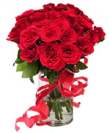 21 adet vazo içerisinde kırmızı gül  Mardin çiçek satışı