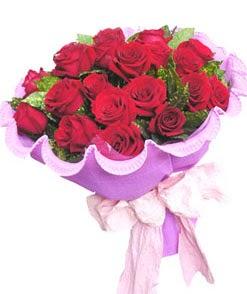 12 adet kırmızı gülden görsel buket  Mardin çiçekçi mağazası
