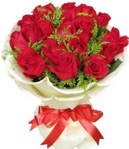 19 adet kırmızı gülden buket tanzimi  Mardin çiçek servisi , çiçekçi adresleri
