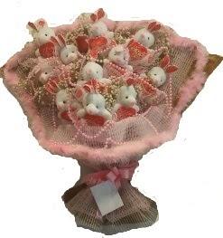 12 adet tavşan buketi  Mardin çiçek mağazası , çiçekçi adresleri