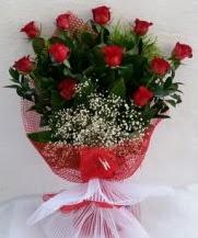11 adet kırmızı gülden görsel çiçek  Mardin çiçek satışı