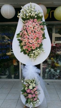 Çift katlı özel şahane sepet çiçeği  Mardin çiçekçi telefonları